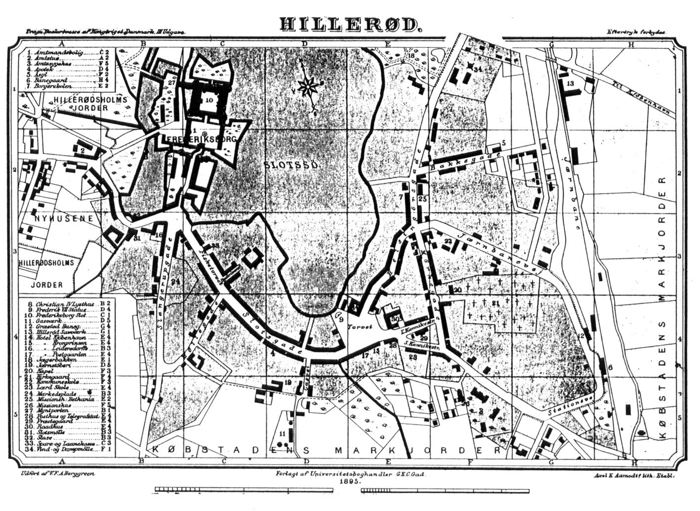 1895Hillerød kort